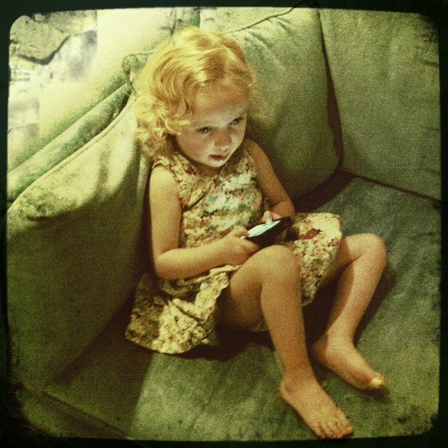 Little Girl, Green Couch