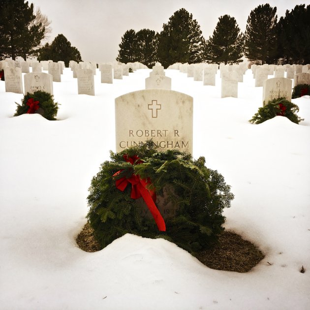 Wreaths in Snow